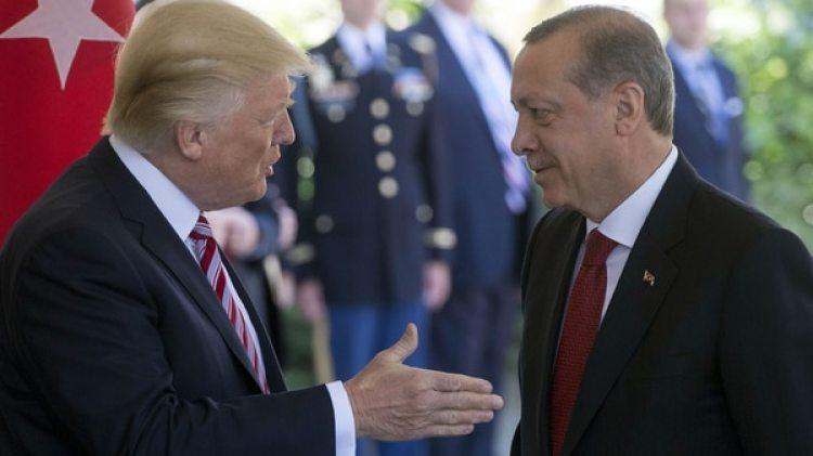 Donald Trump con Recep Tayyip Erdogan (AFP)