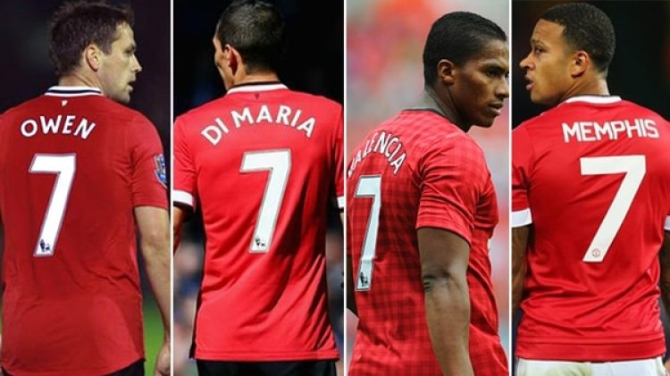 Michael Owen, Ángel Di María, Antonio Valencia y Memphis Depay sufrieron la herencia de usar el '7' del Manchester United