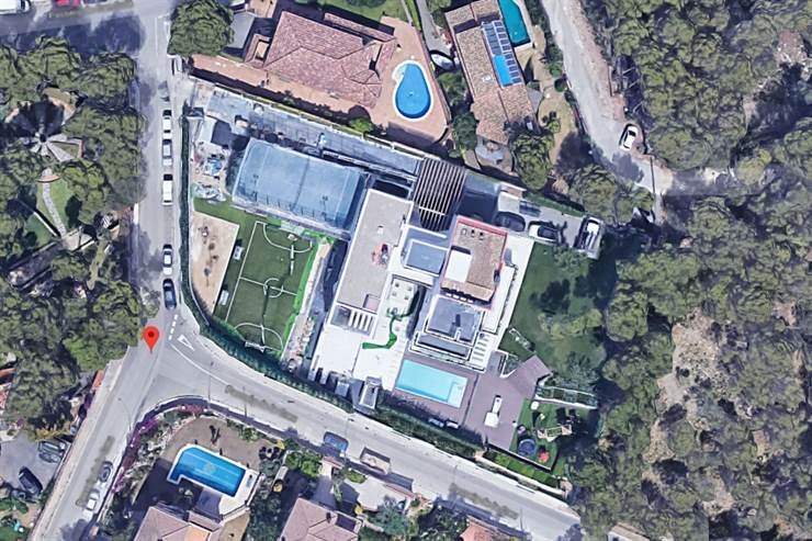 La casa de Messi, desde el aire