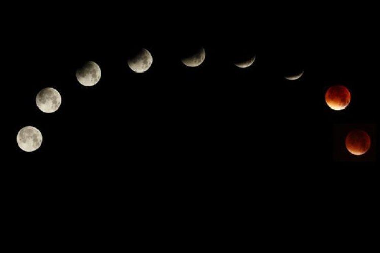 El camino de superluna a luna de sangre. (Ruaraidh Gillies/Wikimedia Commons)