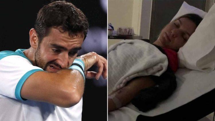 Marin Cilic protestó por el calor y Simona Halpe estuvo internada tras jugar la final del Australian Open