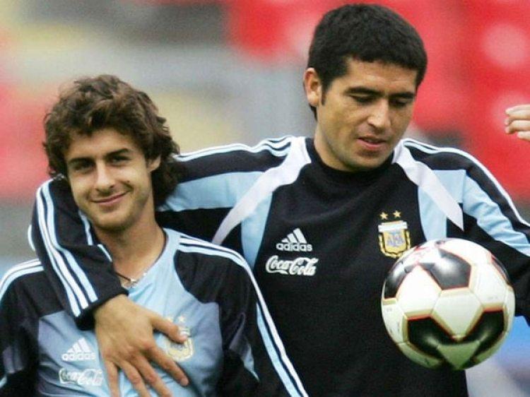Aimar y Riquelme disputaron juntos el Mundial de Alemania 2006 con la Mayor (AFP)