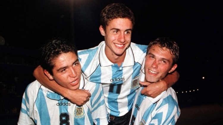 Riquelme, Aimar y Markic en las juveniles argentinas (Reuters)