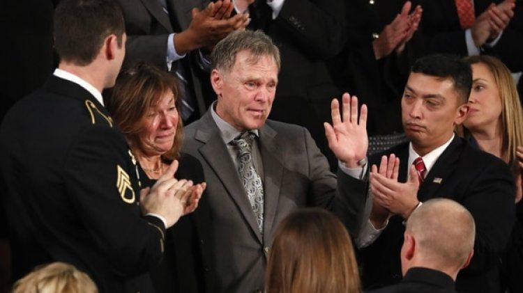 Fred y Cindy Warmbier durante el discurso del Estado de la Unión. (Reuters)