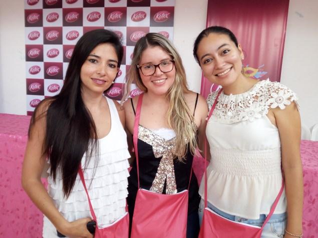 Andrea Prudencio, Jeancarla Urgel, Cinthya Grimales Ejecutivas de Kimberly Clark