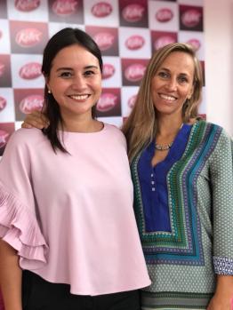 Cindy Cors Brand Mananger Kotex, Patricia Leyton Embajadora de la Campaña #NoteDetengas