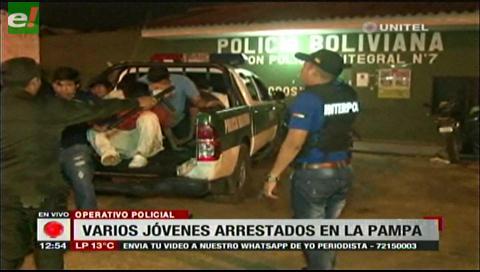 17 personas detenidas en la Pampa de la Isla