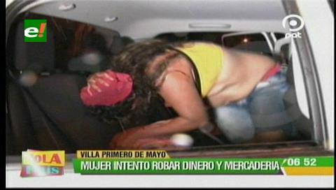 Detienen a mujer que intentó robar mercadería luego de golpear a la vendedora
