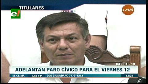 Video titulares de noticias de TV – Bolivia, mediodía del jueves 4 de enero de 2018