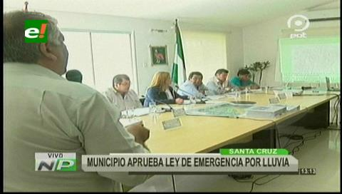 Concejo Municipal aprueba ley que declara en emergencia a la capital cruceña