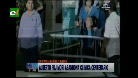Perú: Alberto Fujimori recibió alta médica y abandonó la clínica