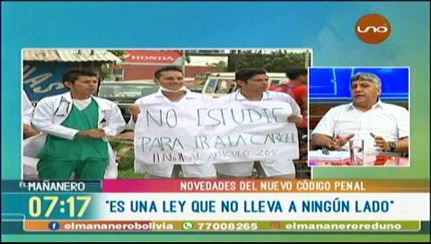 """Santistevan: """"Con el nuevo Código Penal la bigamia ya no es delito en Bolivia"""""""