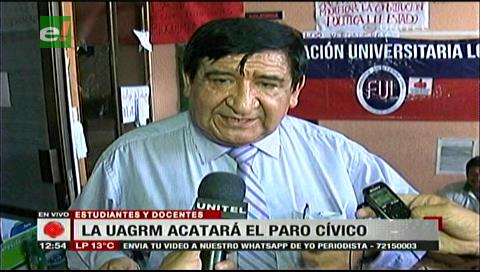 La Uagrm acatará el paro cívico y pide al Gobierno revisar todo el Código Penal