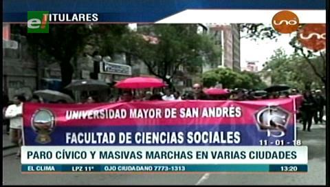 Video titulares de noticias de TV – Bolivia, mediodía del jueves 11 de enero de 2018