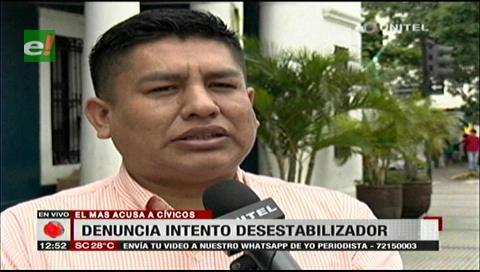 Diputado Cabrera acusa a cívicos y opositores de intentar desestabilizar al Gobierno