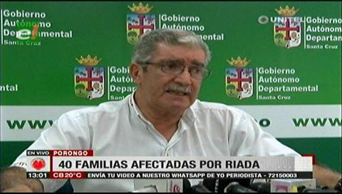 Gobernación brindó apoyo a unas 40 familias afectadas por desborde en Porongo