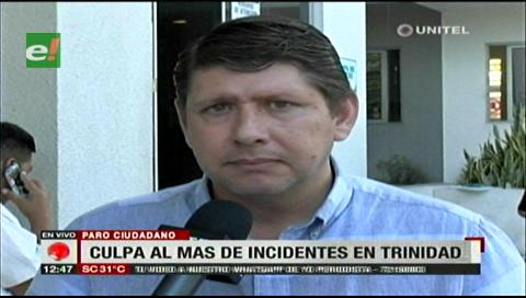 Diputado Gutiérrez culpa al MAS de los enfrentamientos en paro cívico del Beni