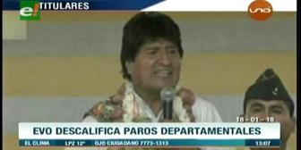 Video titulares de noticias de TV – Bolivia, mediodía del jueves 18 de enero de 2018
