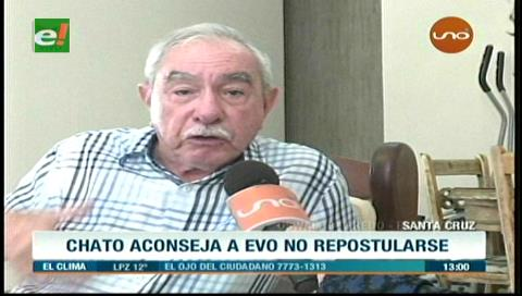 """Chato"" Peredo aconseja a Evo no repostularse"