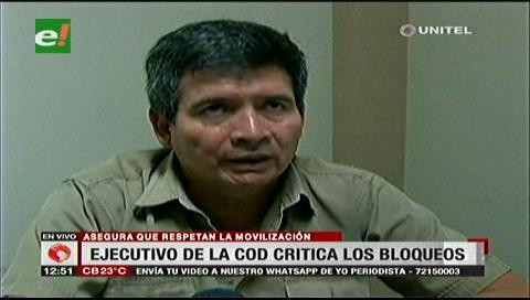 COD critica los bloqueos en el segundo anillo de Santa Cruz