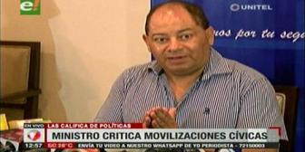 Ministro Romero criticó movilizaciones y paros cívicos de sectores en el país