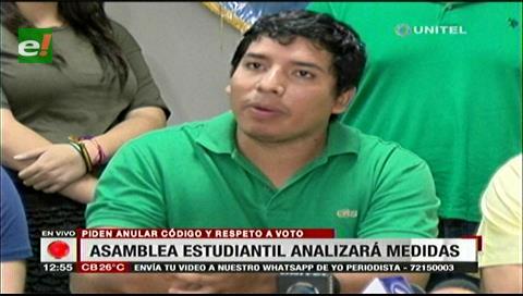 Asamblea de la Uagrm analiza medidas a tomar contra la repostulación de Morales