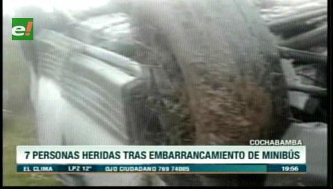 Cochabamba: Embarrancamiento deja siete heridos