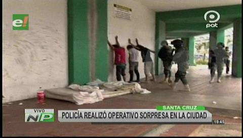 Santa Cruz: 42 indigentes fueron arrestados durante un operativo sorpresa