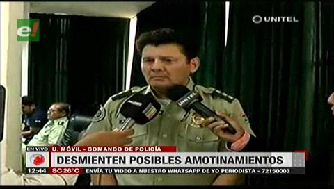 Santa Cruz: Comandante desmiente supuesto amotinamiento de policías