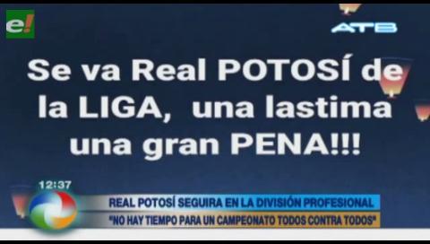 Real Potosí continuará siendo parte de la FBF