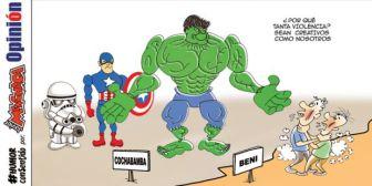 Caricaturas de Bolivia del viernes 19 de enero de 2018