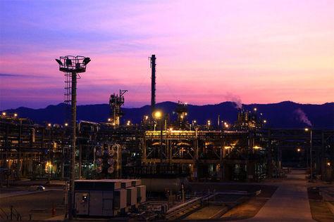 Producción de gas en Tarija.