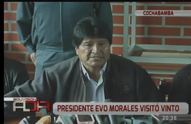 Presidente Evo Morales visitó Vinto