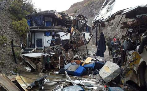 Así quedaron los buses de Dorado y Alteña tras uno de los accidentes en Cochabamba. Foto: Fernando Cartagena