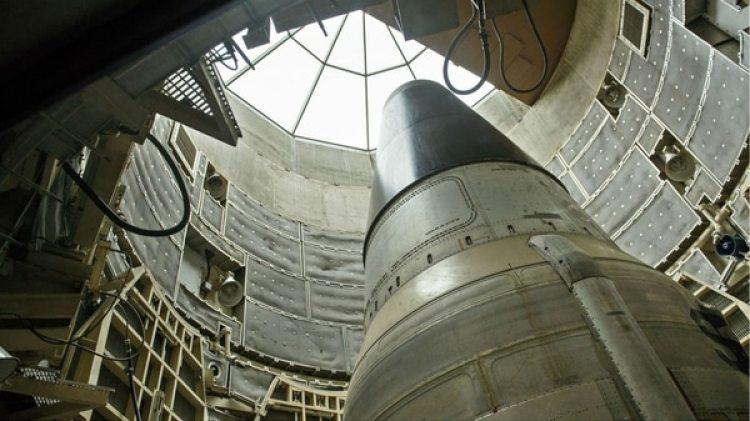 Un misil nuclear desactivado en el Museo de Misiles Titan en Green Valley, Arizona, EEUU (AFP/Brendan Smialowski)