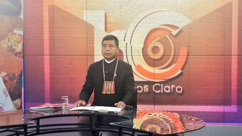 El canciller en el programa Hablemos Claro de BoliviaTV.