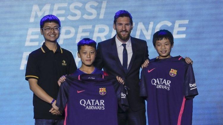Messi en un evento en China (Getty Images)