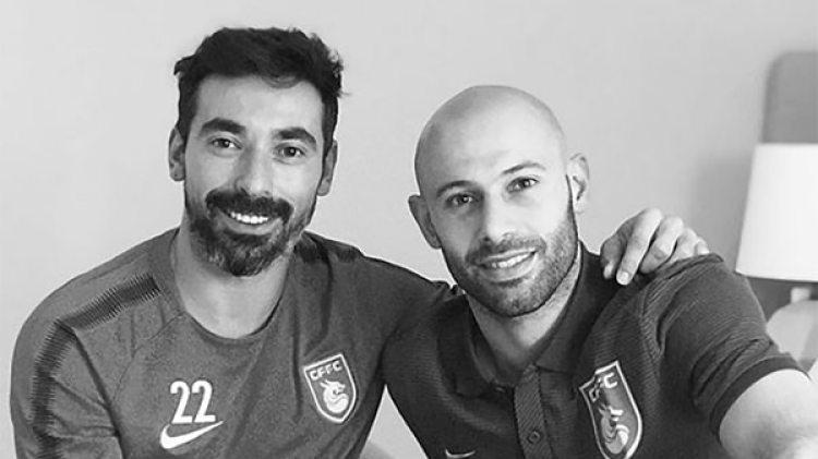 Javier Mascherano es nuevo compañero de Ezequiel Lavezzi en el Hebei Fortune (@pocho22lavezzi)
