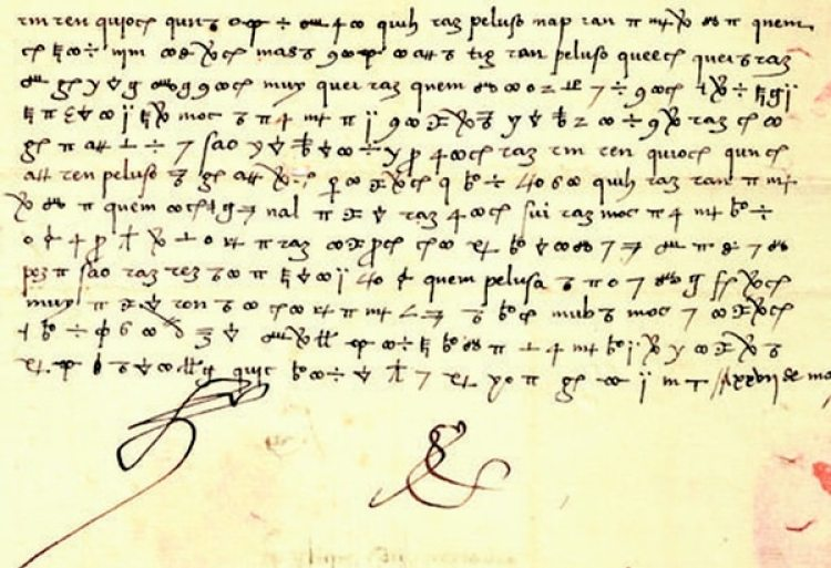 Una muestra de las cartas codificadas