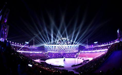 PyeongChang 2018. El momento central de la ceremonia inaugural. Foto: EFE