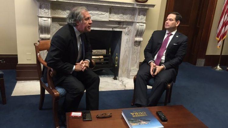 Marco Rubio junto a Luis Almagro (@Almagro_OEA2015)