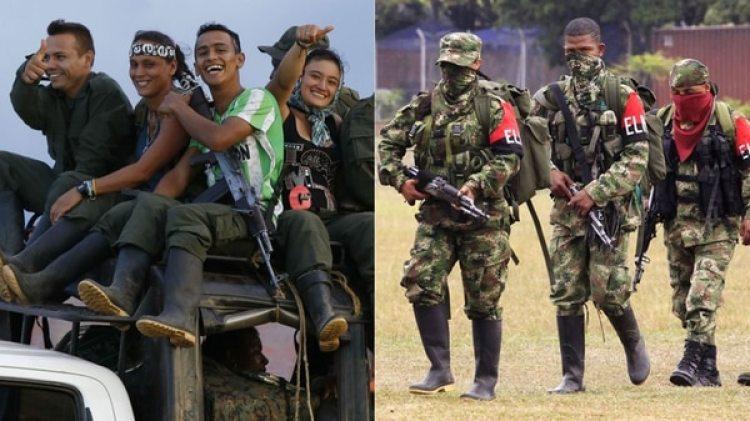 Miembros de las FARC y del ELN