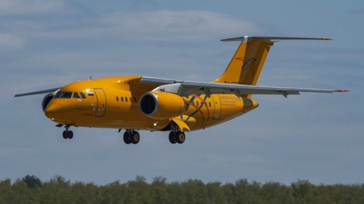 Un Antonov An-148 de Saratov Airlines, como el accidentado