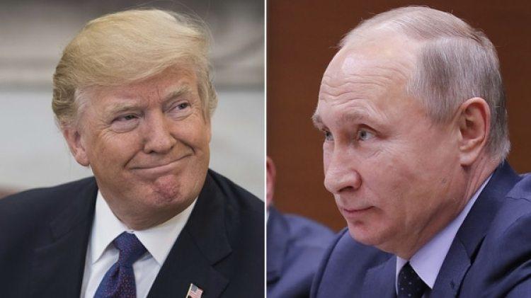 Donald Trump, presidente de Estados Unidos, y su par ruso Vladimir Putin
