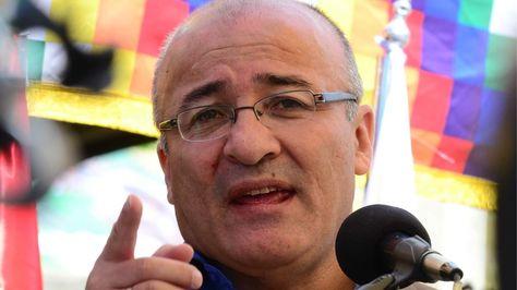 El ministro de Gobierno, Hugo Moldiz.