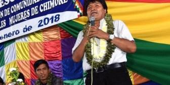 Morales pide unidad a interculturales para evitar que la derecha vuelva al poder