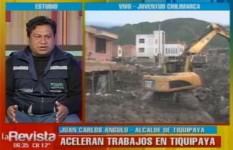 Trabajos para quitar la mazamorra de Tiquipaya tardaría unos ocho meses