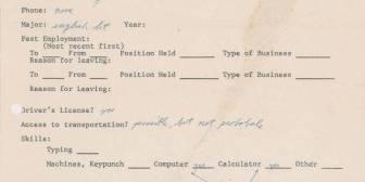 Faltas de ortografía, sin coche, sin casa y sin teléfono: así solicitaba trabajo Steve Jobs en 1973