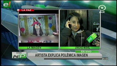 Artista que pintó una virgen en tanga recibe amenazas de violación — Bolivia