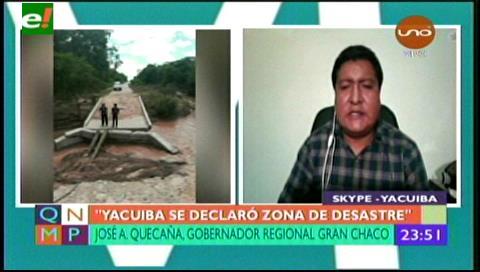 Yacuiba declarada zona de desastre